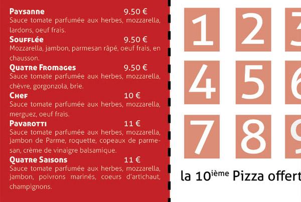 Pizzeria – Carte de fidélité